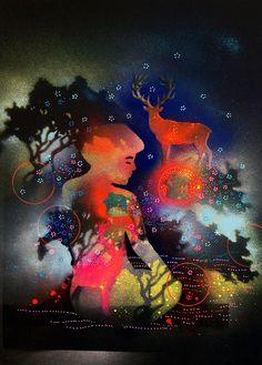 THE ARRIVAL - NORTHERN LIGHTS | Randi Antonsen Artist and art teacher #artpeople