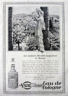 Kölnisch Wasser 4711 Jahrgang Werbung, original print Art-Deco-Werbung aus dem französischen Magazin 1927, retro Parfüm Poster Anzeige