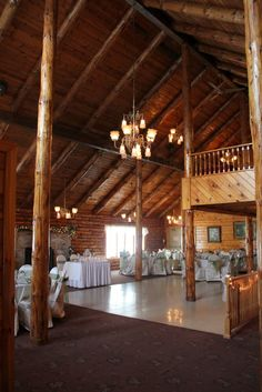 log cabin venue - rug is a no go but the ceiling is amazing.