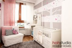 Project Nursery - Grey, White and Pink Nursery Striped Nursery, Project Nursery, Nursery Ideas, Nursery Design, Girl Nursery, Nursery Grey, Interior Exterior, Kid Spaces, Cool Baby Stuff