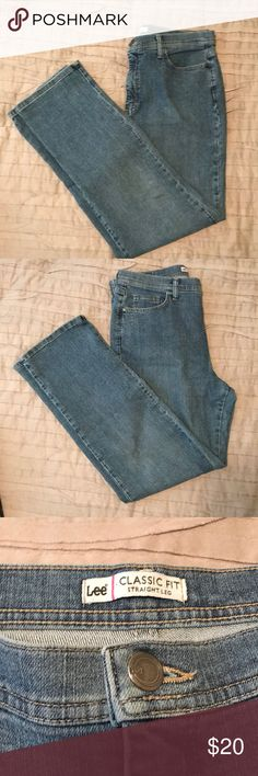 Lee Straight Leg Jeans Lee Classic Fit Straight Leg Jeans. Only worn a few times. No wear, rips or stains. Size 14 regular Lee Pants Straight Leg