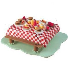 Picnic Cake - For all your cake decorating supplies, please visit craftcompany.co.uk