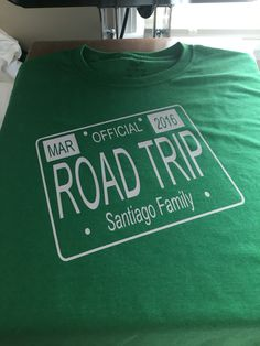 Custom Vinyl road trip shirt