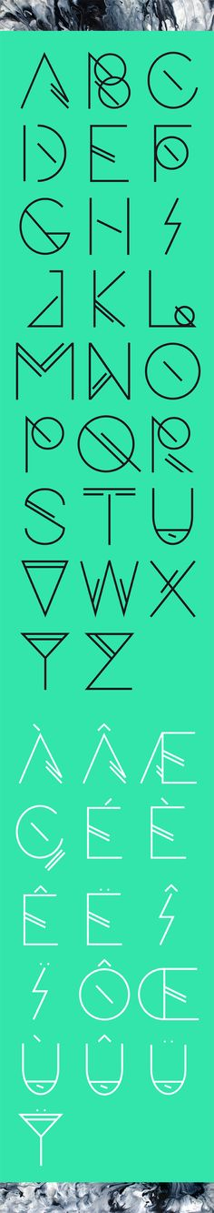 Foresee | Free typeface by Arnaud Le Roux, via Behance