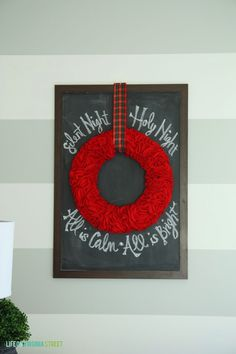 Christmas Chalkboard Round Two and a Guest Bedroom Progress Update - Life On Virginia Street