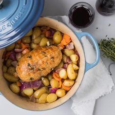 Kerstrecept // Rijkgevulde stoofpot met kiprollade