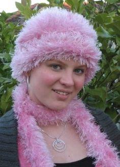 Fun Fur hat and scarf.