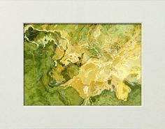 Giclee abstract art print on paper in pink green by FinnellFineArt, $25.00