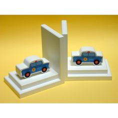 One World Police Car Bookends with White Base - BG00036621