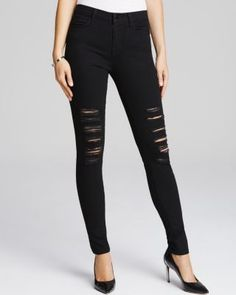 J Brand Jeans - Photo Ready Maria High Rise Destructed in Blackheart   Bloomingdale's