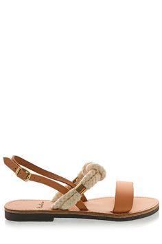 Grec Leather Sandals sandales de mariage Design par EleannaKatsira
