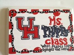 University of Houston Cougars U of H Teacher by TheCrazyPolkaDot, $24.00