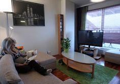 Loft apartment in Mikkeli: living room