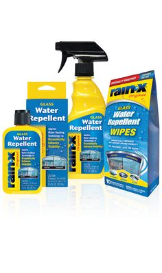 Glass Water Repellents & Cleaners - Rain-X