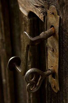 ...an old door to be unlocked with an old key...