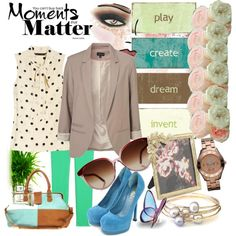 Pastel & I Date Night, created by mellr on Polyvore