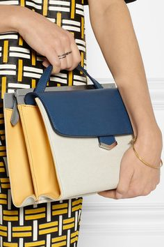 Fendi Demi-Jour small color-block textured-leather shoulder bag | NET-A-PORTER