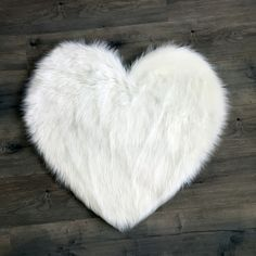 Faux Sheepskin Heart