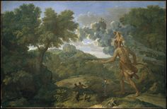Blind Orion Searching for the Rising Sun by Nicolas Poussin, 1658