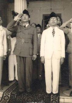 President Soekarno and Vice President M.Hatta