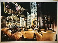 Photos and Videos Interior Design Renderings, Interior Design Website, Interior Rendering, Interior Sketch, Interior Concept, Architecture Graphics, Interior Architecture, Restaurant Layout, Hotel Lobby Design