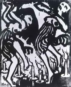 Les danseuses aux bougies, par Emil Nolde