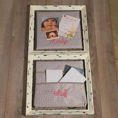 Use an old wooden frame, Wall Together Pocket Board and Wall Together Pinboard to create a central station in your home
