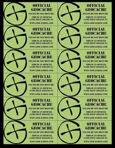 Geocaching 12 Label Sheet Photo:  This Photo was uploaded by nnnoooiiissseee. Find other Geocaching 12 Label Sheet pictures and photos or upload your own...