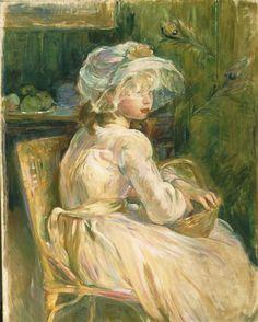 "Berthe Morisot. ""Young Girl with Basket,"" 1892, by Berthe-Marie-Pauline Morisot"