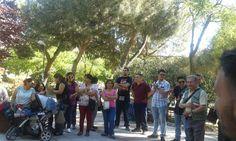 Evangelizando en el Parque de Pueblo Nuevo madrid