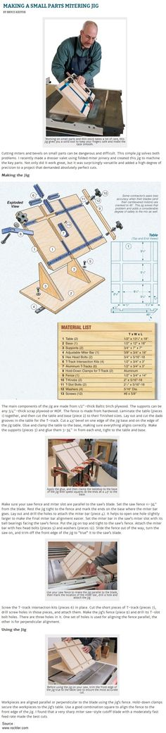 Making a Small Parts Mitering Jig