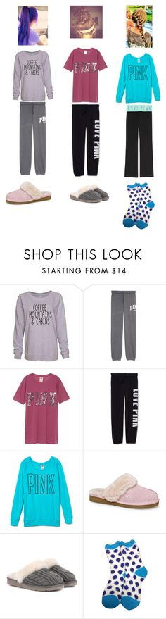 """""""Sleepover-part 1"""" by hunterhayesfan100 ❤ liked on Polyvore featuring Victoria's Secret PINK, UGG Australia and UGG"""