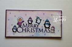 Christmas Cuties by For the love of stamps by Hunkydory Christmas Cards, Xmas, Penguin, Stamping, Card Ideas, Projects To Try, Card Making, Greeting Cards, Merry