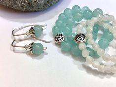Aquamarine bracelet. Optional earrings, moonstone bracelet. Mar.birthstone, handmade. https://img1.etsystatic.com/180/0/8965783/il_fullxfull.1209903519_nkd0.jpg #etsymntt #aquamarine #easter