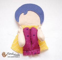 Textile Josefina doll with his own hands.  Pattern and a master class with step by step photos.