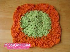 Una aplicación de espigas para manta   Blog a Crochet - ACrochet