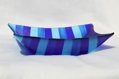 12 inch by 12 inch bowl in ocean colors
