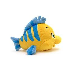 Flounder Small Soft Toy   Little Mermaid, The   Disney Store (300 MXN) ❤ liked on Polyvore featuring stuffed animals, toys, babie, baby things and bags