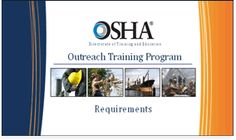 OSHA outreach program designed to train online employees in all areas of workplace safety. Entrepreneurship Education, My Resume, Workplace Safety, Career Planning, High School Students, Program Design, Training Programs, Programming, How To Plan
