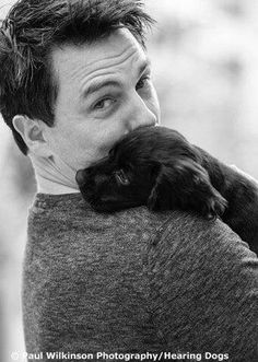 John Barrowman with puppy - You are welcome!