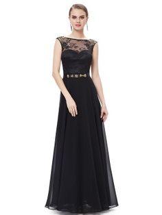 Shop Black Mesh Lace Rhinestone Keyhole Maxi Dress from choies.com .Free shipping Worldwide.$93.99