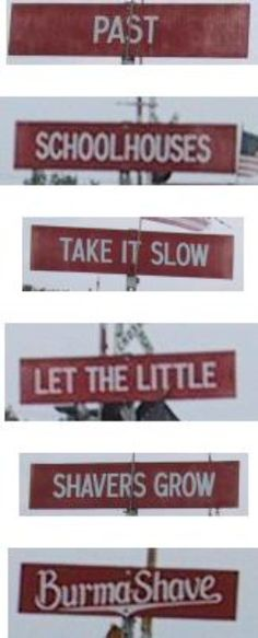Another Burma Shave Sign