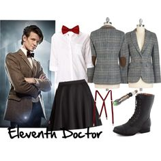 "Possible Costume #3: ""Eleventh Doctor, Doctor Who"" by sonya-lebrun on Polyvore"