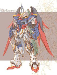 Gundam badass, reminds me of zero! Gundam Wing, Gundam Art, Transformers, Gundam Wallpapers, Gundam Mobile Suit, Gundam Custom Build, Cool Robots, Character Design, Character Art