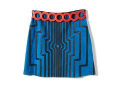 レトロフューチャーな幾何学模様がポイント。ロエベの新作スカート&ベルト【Today's item】