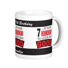 """SOLD"" #70th #Birthday #Mug #milestone ##zazzle #zazzlebesties  All milestone ages available."