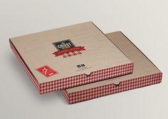 Crust Kitchen // Branding by Mohd Almousa, via Behance Restaurant Names, Pizza Restaurant, Brand Packaging, Packaging Design, Santa Pizza, Pizza Box Design, Pizza Project, Sandwich Packaging, Pizza Branding
