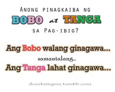 Tagalog Jokes - Best Funny Tagalog Jokes The best funny tagalog jokes, pinoy jokes, juan jokes tagalog, joke time pinoy, joke quotes tagalog Bitter Quotes Tagalog, Crush Quotes Tagalog, Tagalog Quotes Hugot Funny, Pinoy Quotes, Love Sayings, Love Quotes Funny, Secret Crush Quotes, Bitterness Quotes, Hugot Lines Tagalog