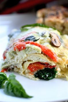 Garden Lasagna   #Food #Cuisine #Inthekitchen #Cooking #Baking #Lasagna #VegetableLasagna