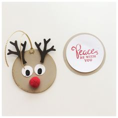 Quick and Easy Reindeer Tags -- FREE TUTORIAL from StampinFool.com